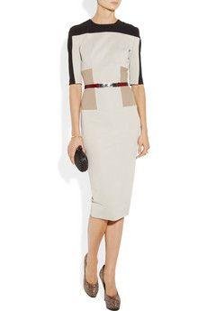 Victoria Beckham dress. Great color blocking! So modern, fit is flattering.