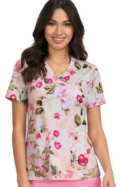 c58f949de00 Company Store Uniforms · Products · Koi Kristen Pretty Woman Print Top