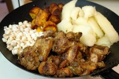 Ecuadorian food - Fritada, this is pork meat.  We love to travel to our highlands and have a delightful taste of it, where this dish is traditional from.