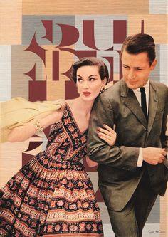 The '50s Mixed media collage Photo woman fashion por SoulArtCorner