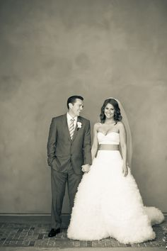 obsessed with this black and white bride and groom portrait.