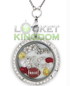 Perfect Locket For KC Football Fans! Not Sold In Stores! Get 70% OFF + FREE Shipping Today! Material: Stainless Steel Locket and Chain Locket Size: 30 mm Chain Size 30 inch **All Charms In Picture Inc