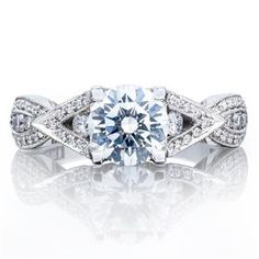 Shop online TACORI 2647RD65W Twist 18K - White Gold Diamond Engagement Ring at Arthur's Jewelers. Free Shipping