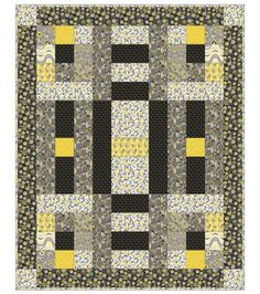 quilt card inspiration: shades of gray with pops of yellow ...
