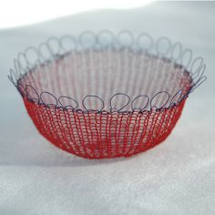 crocheted bowl and many more inspiring designs with wire