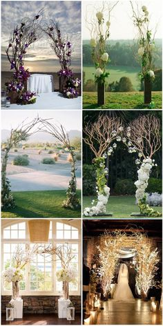 Rustic Wedding Arches Ideas inspired by Natural Branches
