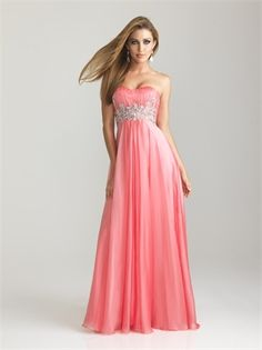 Chiffon Ruched Strapless Bodice Beaded Prom Dress PD2099 www.simpledresses.co.uk £118.0000