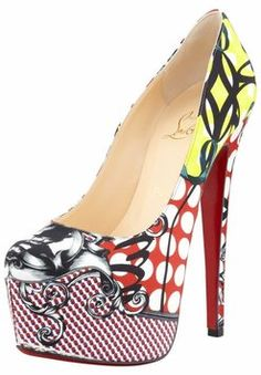 Christian Louboutin Daffodile Multicolor Multi-Print Pumps