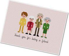 Pixel People - The Golden Girls - PDF Cross-stitch PATTERN. $5.00, via Etsy.