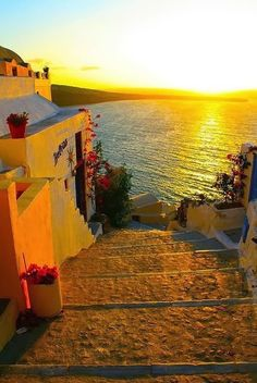 Being here with my husband for our anniversary is a memory I will always treasure! Golden Sunset, Santorini, Greece