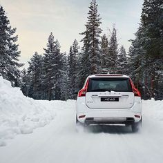This is what Volvo's are built for. We don't test in snow... We're at home in snow. #SwedishHeritage #VolvoXC60