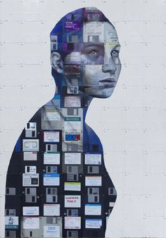 Artist Transforms VHS Tapes and Obsolete Technology Into Striking Portraits – My Modern Met – technologie Technology Vocabulary, Technology Posters, Technology Wallpaper, Futuristic Technology, Technology Design, Art And Technology, Technology Apple, Technology Hacks, Technology Definition