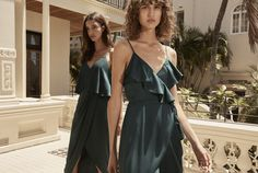 HOORAY! | Shona Joy | Bridesmaid Dress | Wedding Inspo | Bride Tribe | Bridal Fashion | Wedding Fashion | Inspiration | Bridesmaid Gown Inspiration | Green Bridesmaids Dresses | Dark Green Dress | Luxe Dress