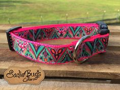 Handmade dog collars, custom pet ID tags, cat collars, and martingale collars. We also offer accessories to go with the collars like bow-ties, etc.