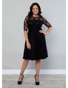 Luna Lace Dress | Lane Bryant this one is Smokey Grey