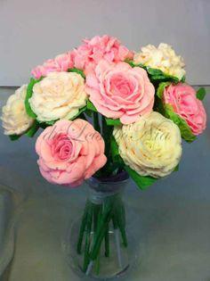 roses bouquet soap