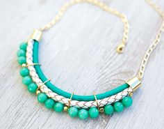 PrettyLover Statement Pastel colors Agate Necklace by by pardes