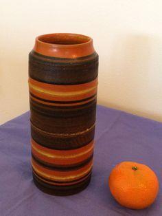 Raymor Vase // Art Pottery Vessel // Mid-Mod Colors by ModernaireMCMStudios on Etsy