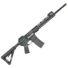 "Palmetto State Armory Freedom AR-15 Semi Auto Rifle 5.56 NATO 16"" Barrel 30 Rounds 11"" M-LOK Handguard MOE Stock Black - 77932932 - 7-G77932932"