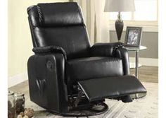 1000 Images About Recliners On Pinterest Rockers Black Faux Leather And Gliders