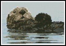 Mini Sea Otter - Cross Stitch Chart