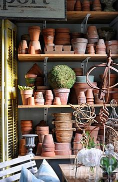 Potting shed detail in Mar Jennings' garden, Connecticut USA