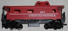 vintage TYCO Chattanooga 607 HO scale train car red caboose