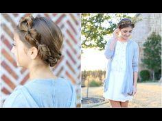 Faux Fishtail Crown Braid | Cute Girls Hairstyles - YouTube