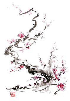 Cherry blossom art - paintings and prints for sale.