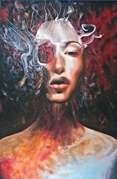 100 / 150 cm Illumination Buy Art Online, Painting Art, Paintings, Draw, Face Oil, Creative, Artist, Pictures, Portraits