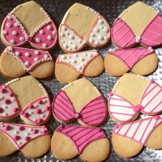 Bachelorette or Lingerie Shower cookies