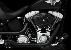 I just love it .....Matt black Harley Davidson Fat Boy