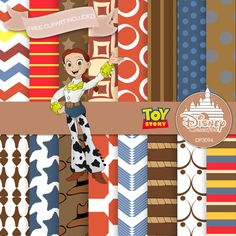 Toy Story Jessie Jessie Digital Paper Disney by DigitalPaperStore