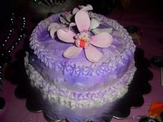 Sugar orchid cake