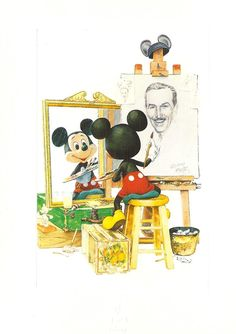 Wonderful Mickey Mouse - Walt Disney art in the style of Norman Rockwell =) this makes me feel all happy