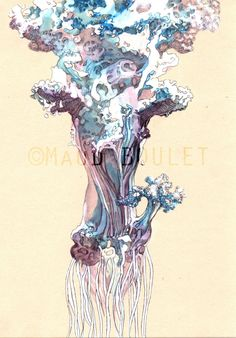 Maud Boulet. Petit format A5. Encre, stylo et crayon sur papier (paint on naturel)