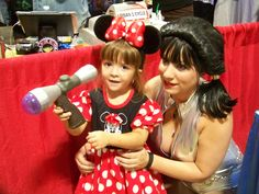 #MinnieMouse trying to shoot the #raygun at the #TBCC2013 #scifi #fantasy #comic