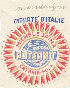Italian import stamp graphics
