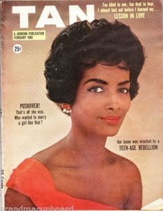 Pioneering model Helen Williams on the cover of Tan (Feb, 1960)