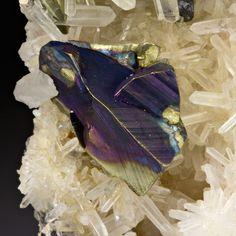 Chalcopyrite with Quartz from Colorado