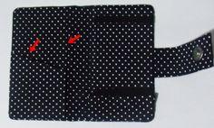 Case para celular em tecido de poá 100% algodão, possui dois bolsos para documentos, cartões e etc. #case #cartonagem #artesanato #feitoamão #ilsbelle