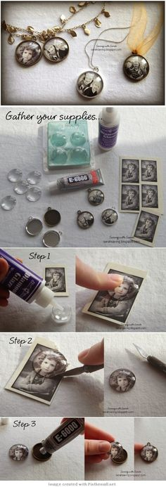 How to Create DIY Photo Pendents Tutorial.
