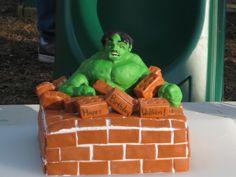 Incredible Hulk Birthday Cake