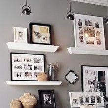 SWEET HOME  Wieso nicht  Bilderleisten montieren?   Mit Bilderleisten können Sie Bilder und Wohnaccessoires einfach an die Wand bringen und ohne Probleme immer wieder auswechseln.