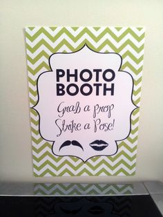 Chevron Modern Photobooth Sign DIY Wedding by CreativePapier, $6.00