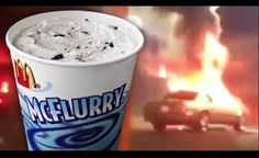 #SMH Video: Woman Torches Car Over #McDonald's #McFlurry  #WTF #Florida #Weird #Idiots #Fire #Food #IceCream #Cravings