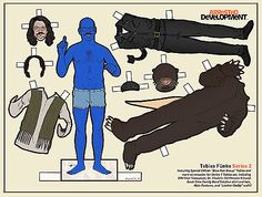 Mississippi-based illustrator Kyle Hilton created this awesome and complete set of Arrested Development paper dolls.