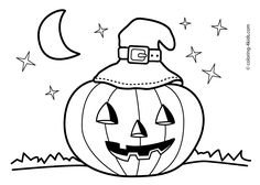Halloween jack o'lantern coloring pages for kids, printable free