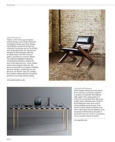 Designer Bethan Gray has joined forces with Lapicida to create the Herringbone Table, made from white Carrara and black Nero Marquina marble, atop a solid brass base http://lapicida.com Alto Issue 3 September 2013