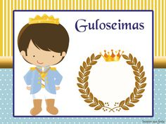 Marmitinha Rei Azul e Dourado